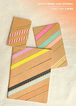 Washi Tape Book Cover