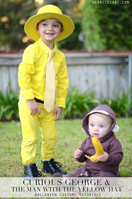 This is one of those perfect sibling costumes and works easily for almost any age and for girls and boys alike.