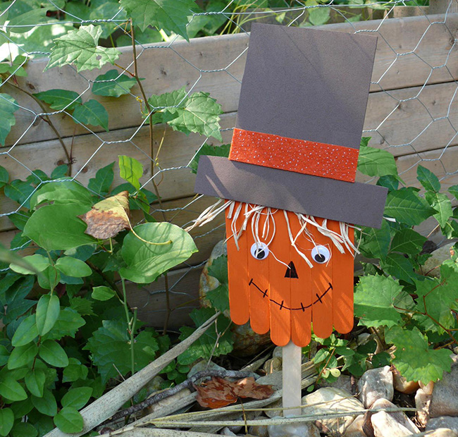 Fall Book Craft How To Make A Popsicle Stick Scarecrow Brightly