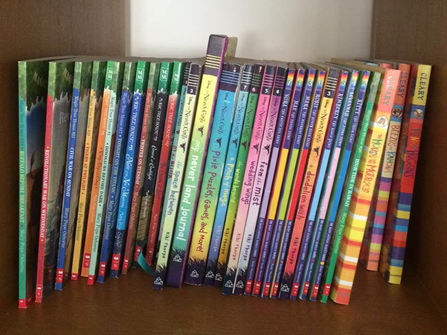 Tidying up Laura Lambert's family bookshelves Marie Kondo style.