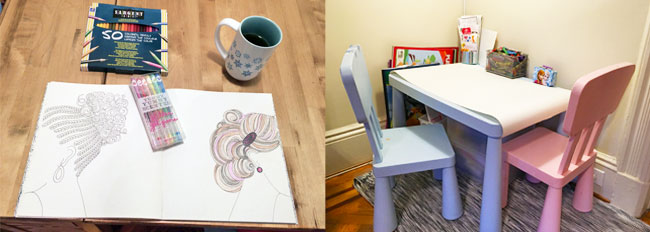 How to Have a Relaxing Coloring Book Playdate with Your Child