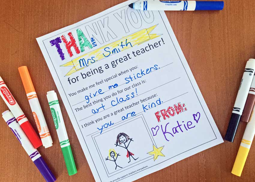Fun And Easy Printable For Teacher Appreciation Week Brightly