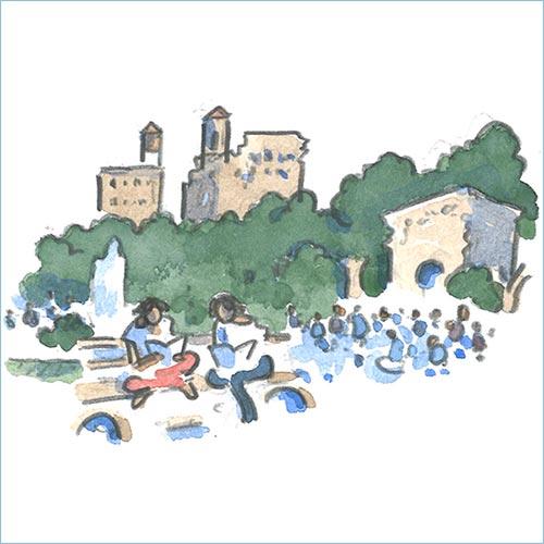 Park watercolor