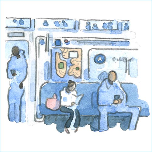 Subway watercolor
