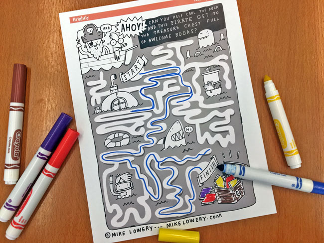 Book Booty A Printable Treasure Maze For Kids Brightly