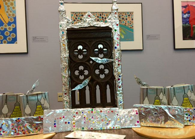 "A ""throne"" created by kids at a library program in Ohio"