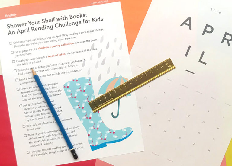 Shower Your Shelf with Books: An April Reading Challenge for Kids Thumbnail