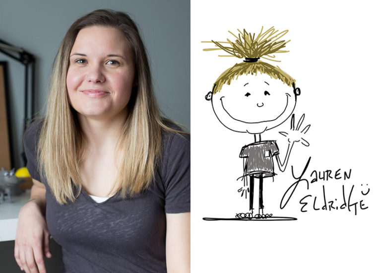 Lauren Eldridge, illustrator of Sleep Train