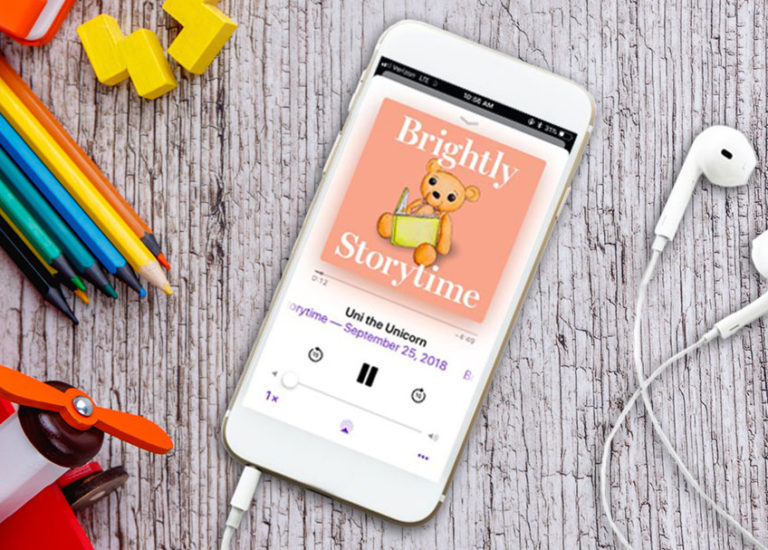 Stories for Families on the Go: <br>Brightly Storytime Podcast Thumbnail