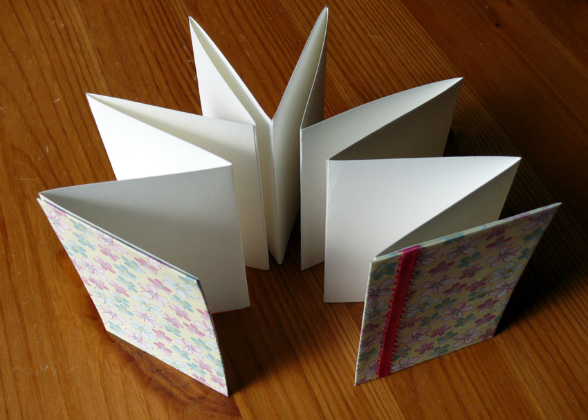 How To Make A Book Cover In Paint : How to make an accordion book brightly