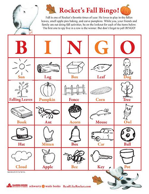 Fall Bingo with Rocket