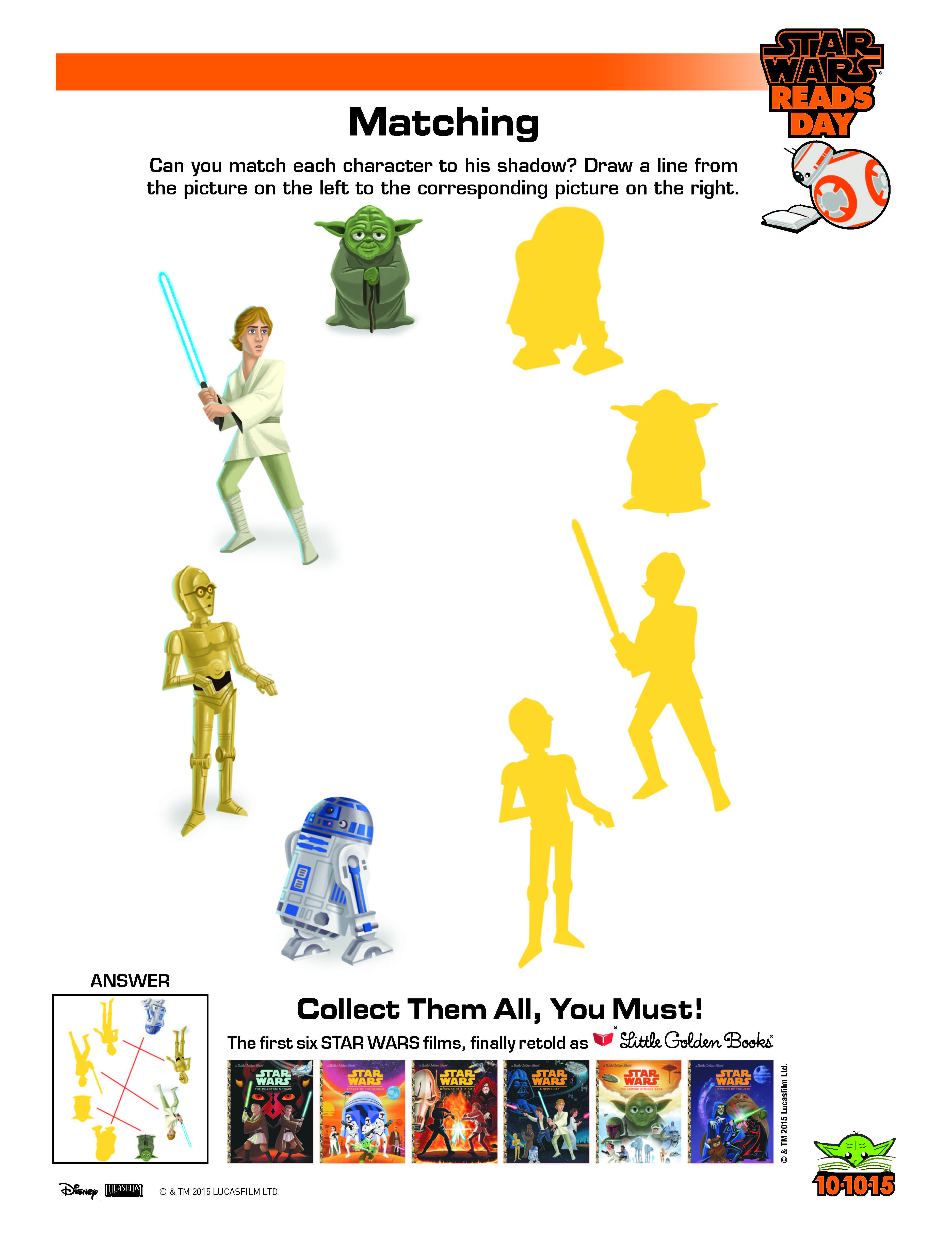 Star Wars Matching Activity