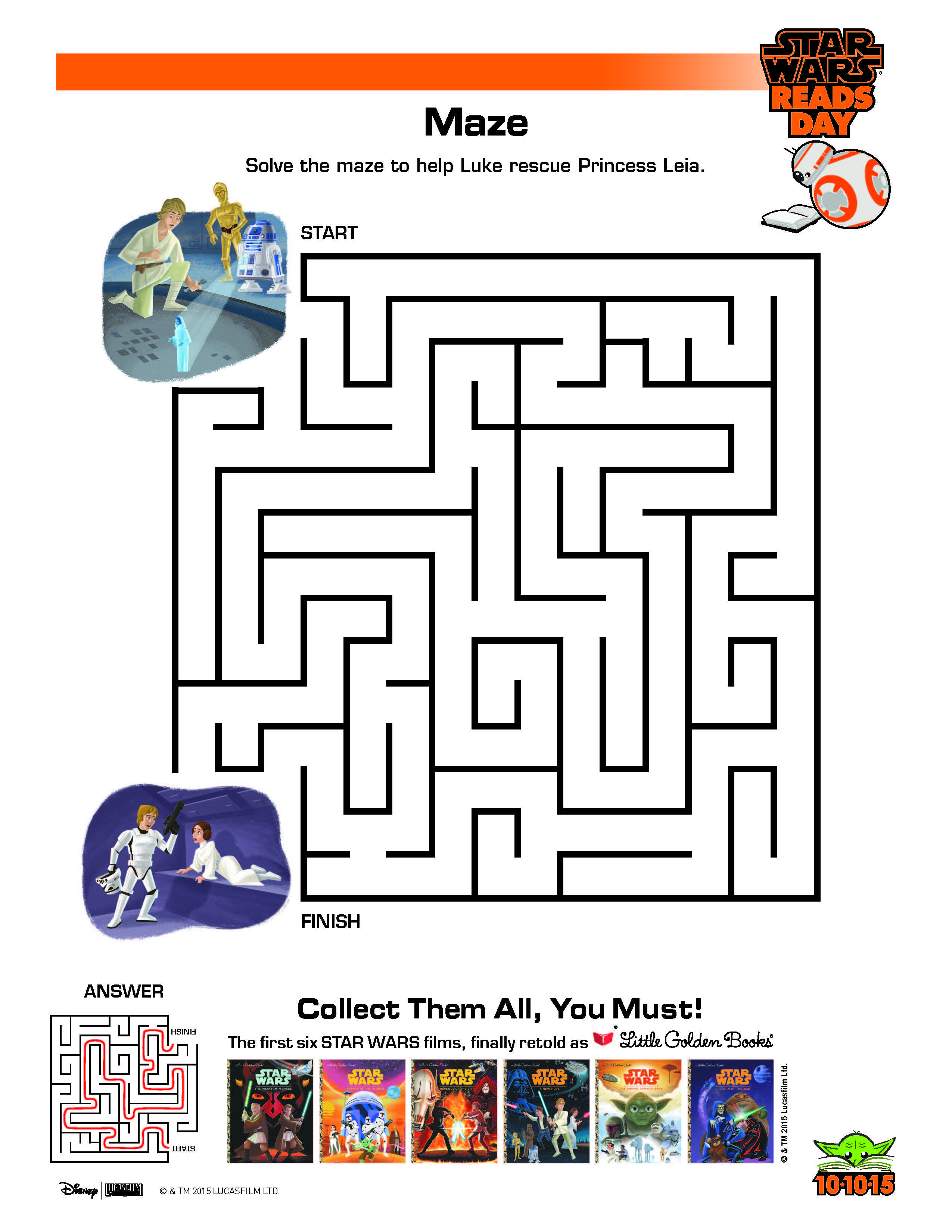 Star Wars Maze Activity