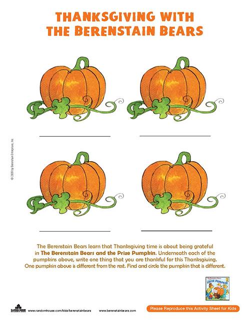 berenstain-bears-thanksgiving-activity