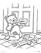 Corduroy-Valentine-Coloring-Page