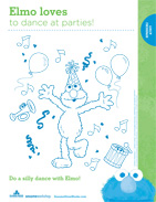 Dance-with-Elmo-Coloring-Page