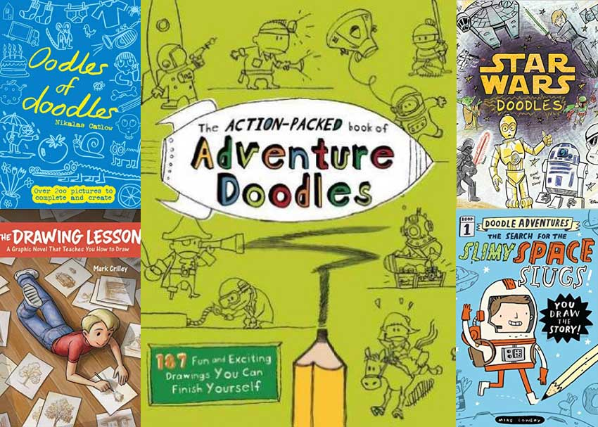 dare to doodle 7 unconventional drawing books for kids brightly