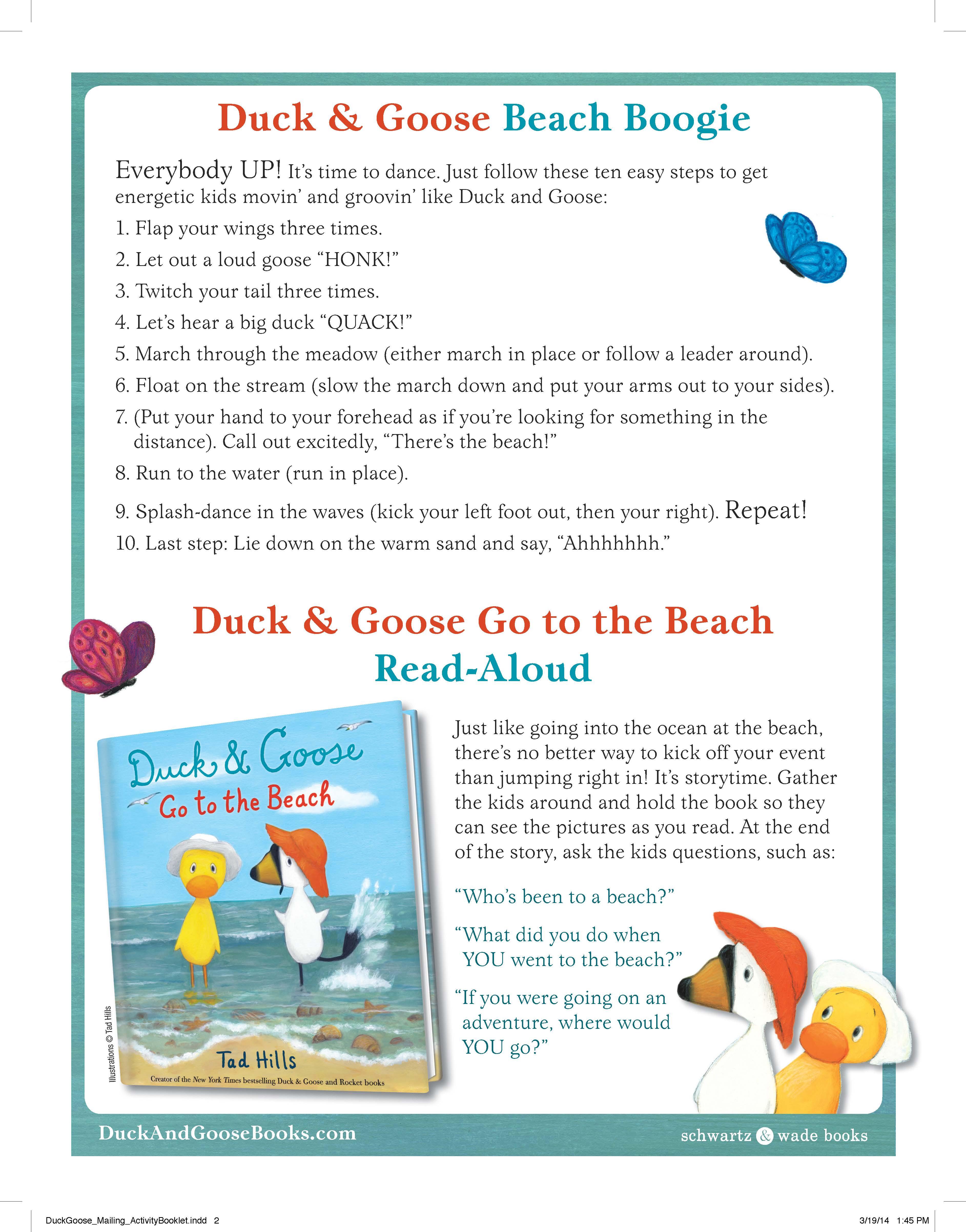 Duck & Goose Beach Boogie Activity