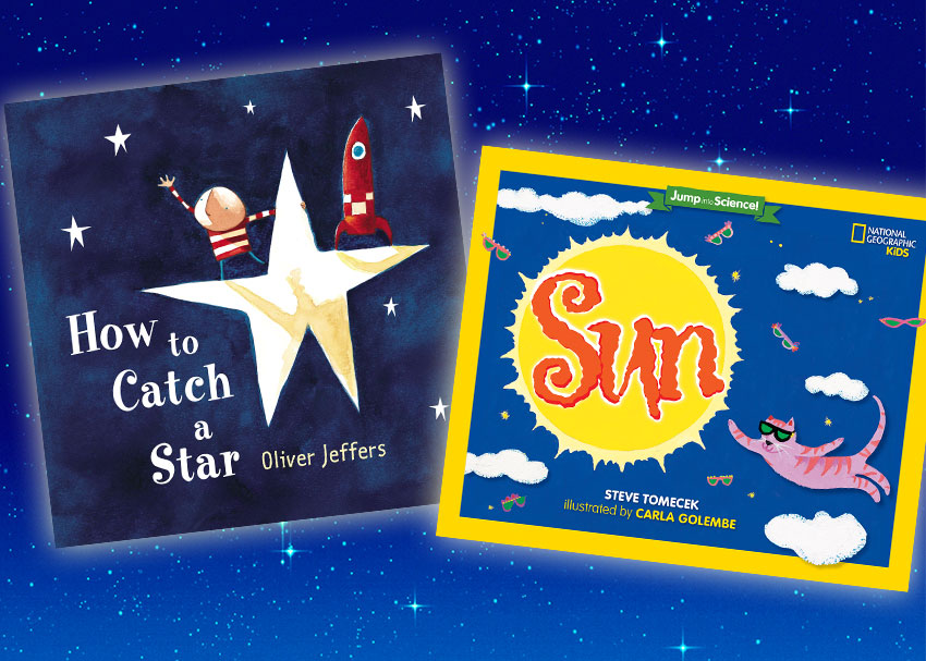 look up 9 kids books about the sun moon and stars brightly