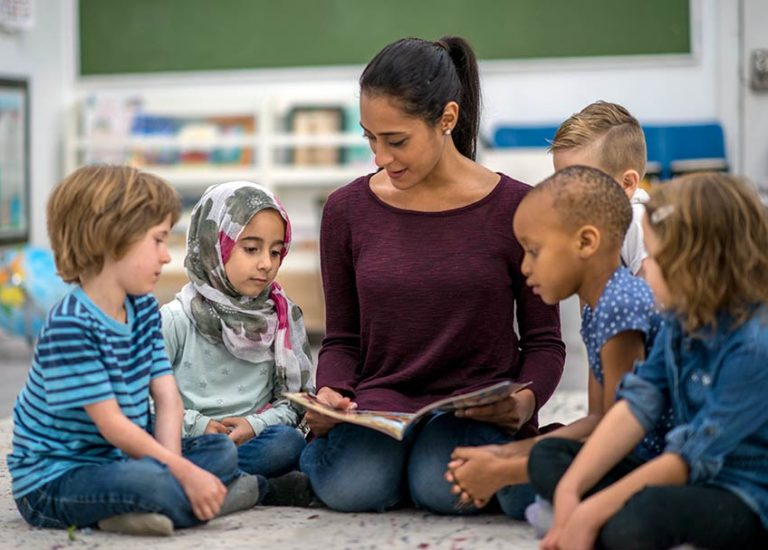 Teacher Reading Aloud to Students