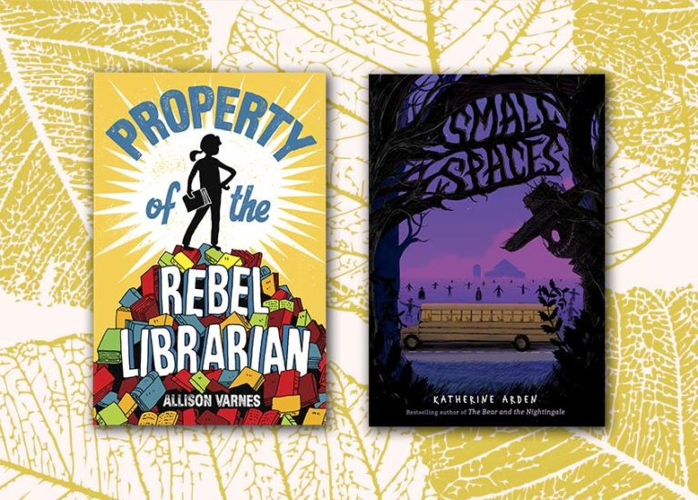 Book covers: Property of the Rebel Librarian; Small Spaces