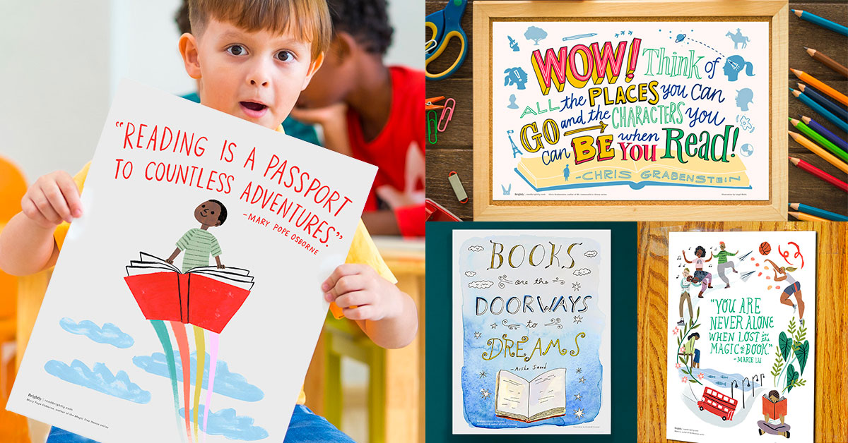 Free Posters for Teachers and Librarians   Reading Quotes