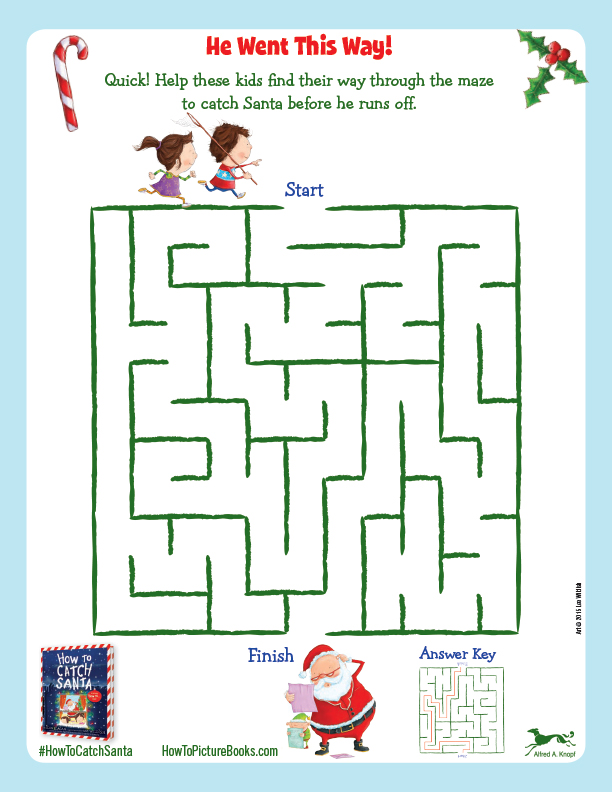 How to Catch Santa Maze