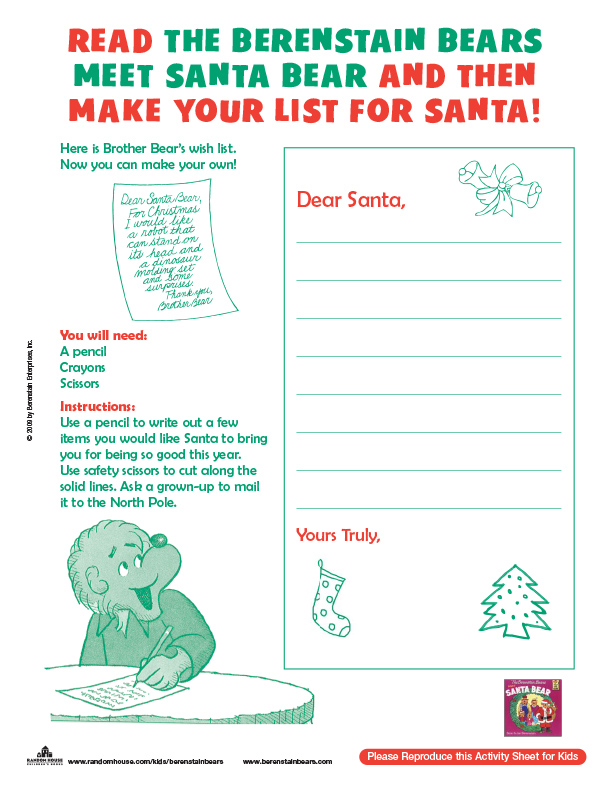 Make Your List for Santa with the Berenstain Bears