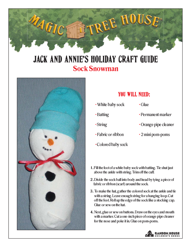 Jack and Annie's Magic Tree House Holiday Crafts Guide