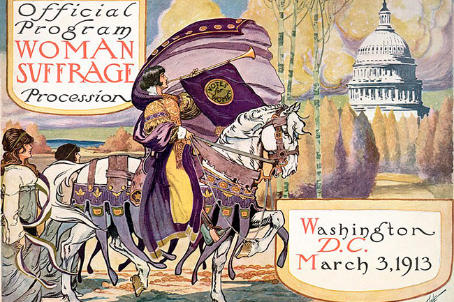 women's suffrage procession