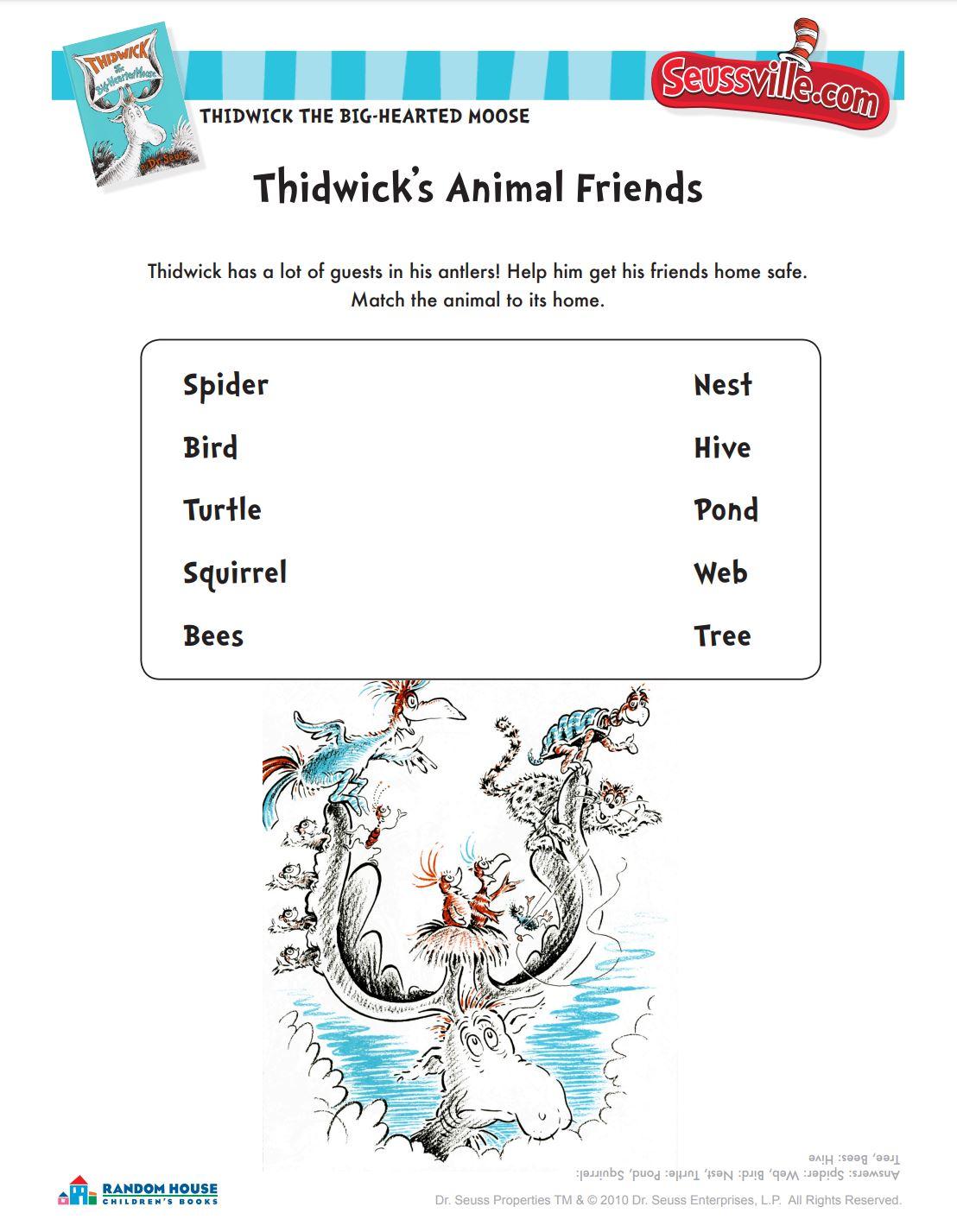 Thidwick's Animal Friends