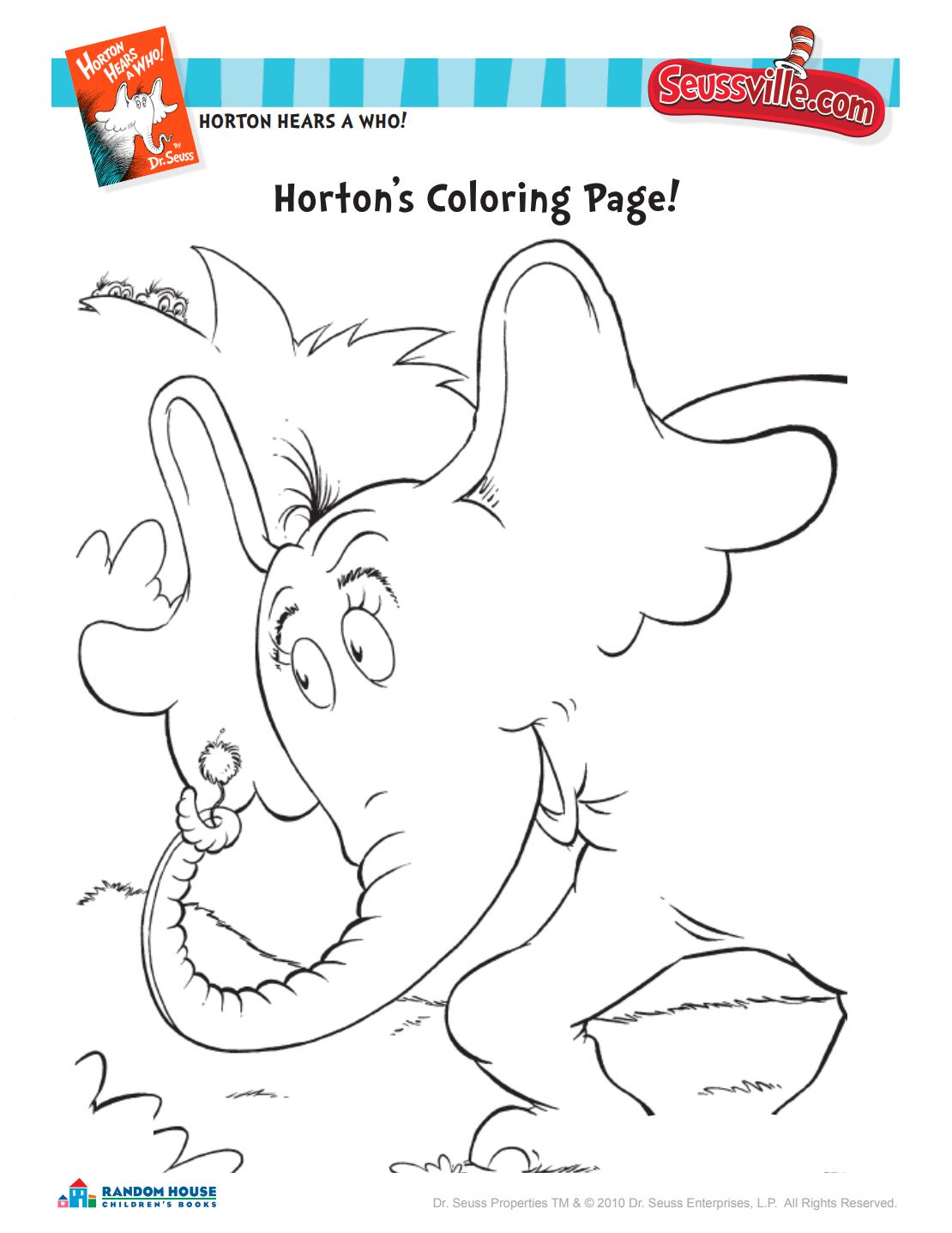 Horton Coloring Page