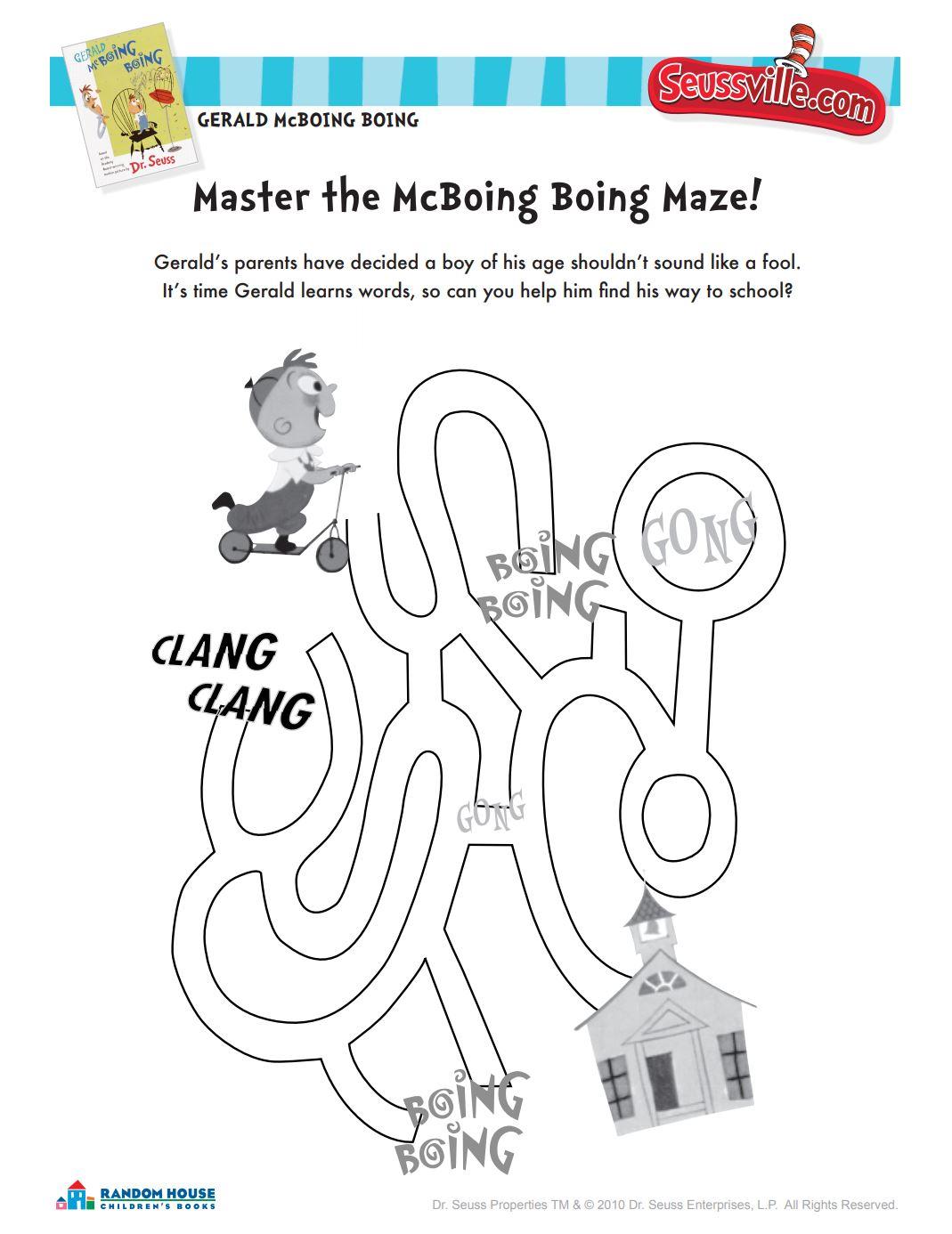Master the McBoing Boing Maze!