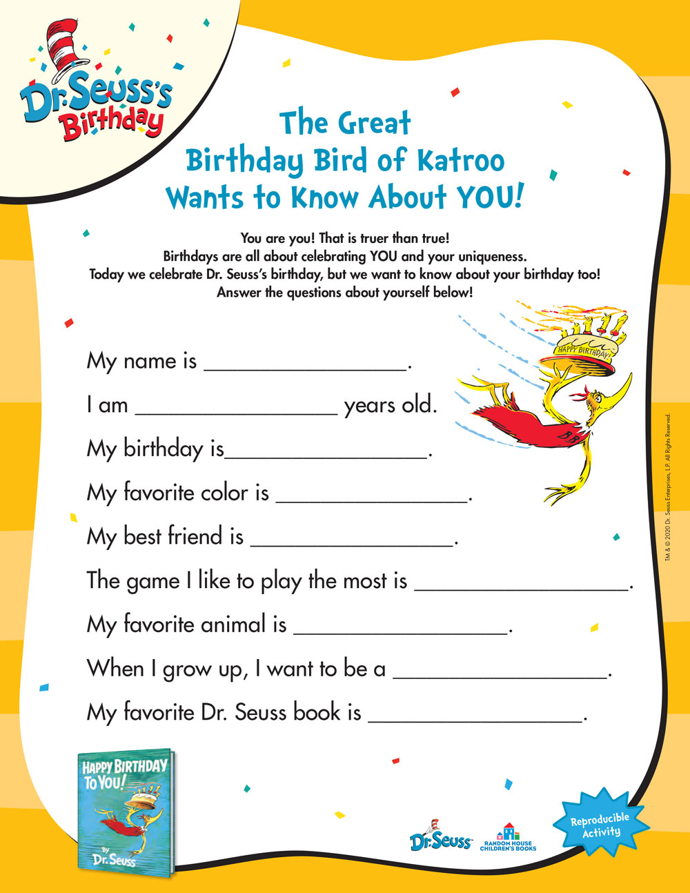 The Great Birthday Bird of Katroo Wants to Know About YOU!