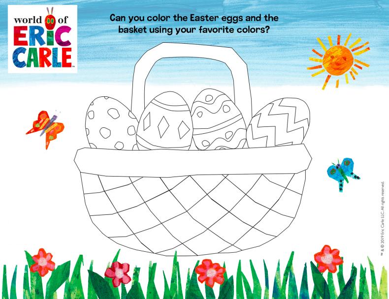 easter egg coloring shset