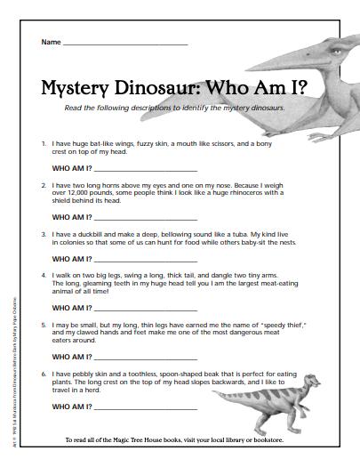 mystery dinosaur