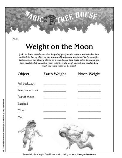 weight on the moon