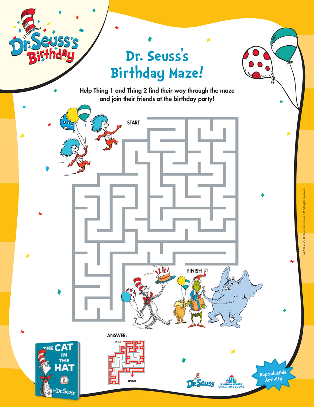 Dr. Seuss's Birthday Maze