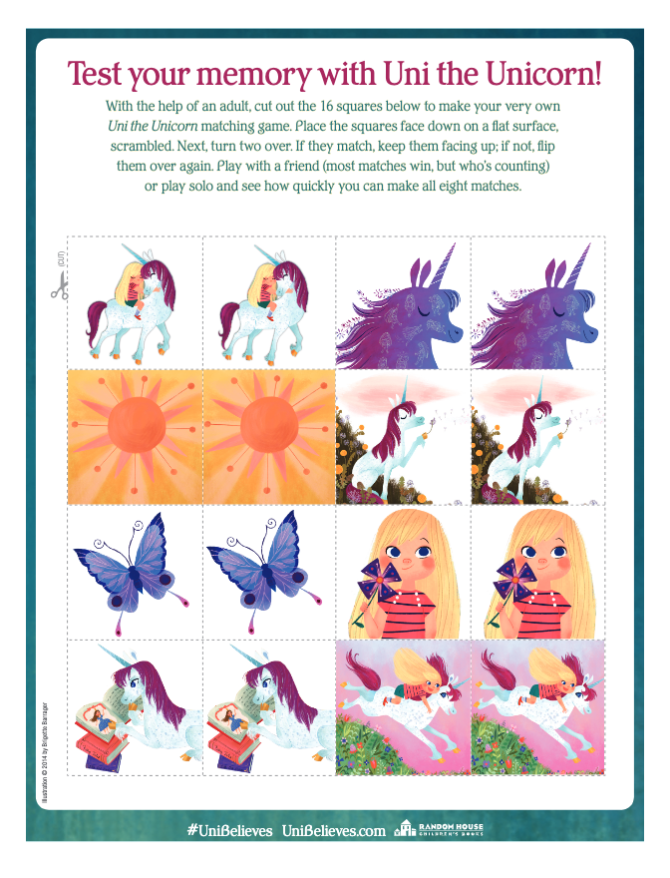 Test Your Memory With Uni the Unicorn