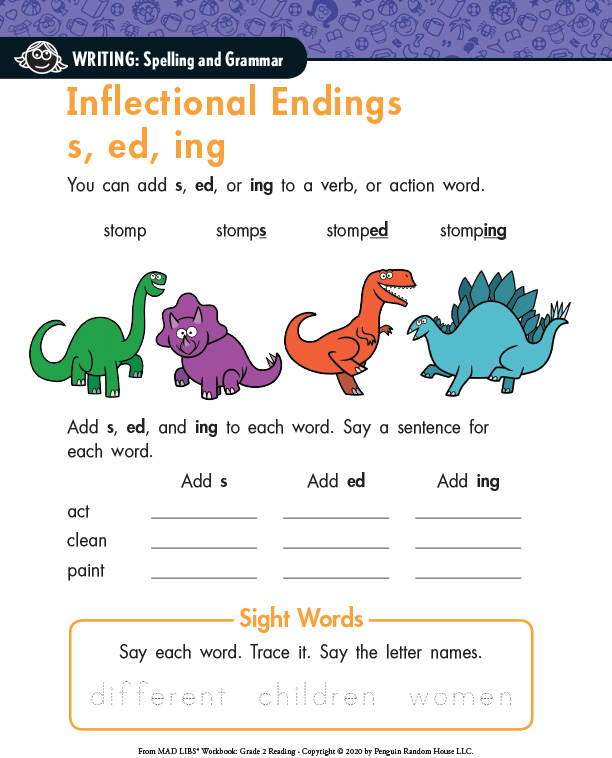 Mad-Libs-Workbook-Grade-2---Inflectional-Endings