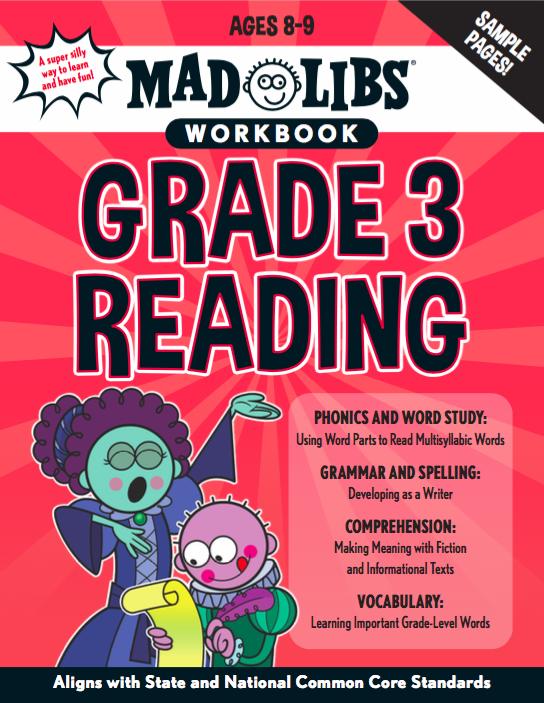 Mad Libs Workbook Grade 3