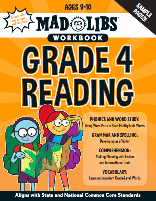 Mad Libs Workbook Grade 4