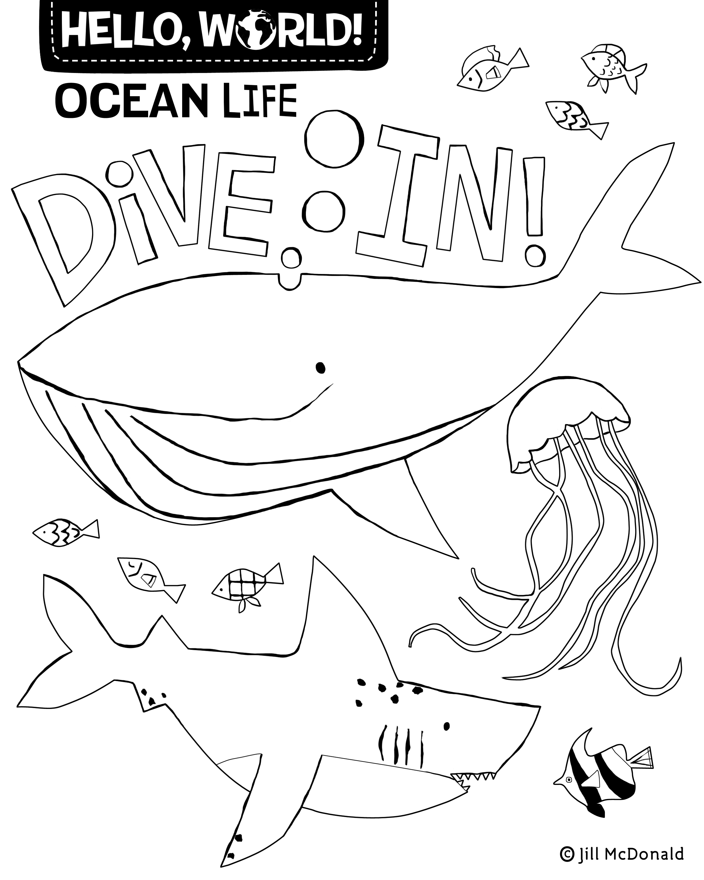 Ocean Life Coloring Page