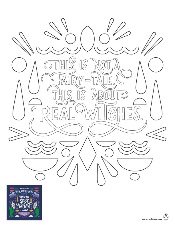 The Witches Coloring Sheet