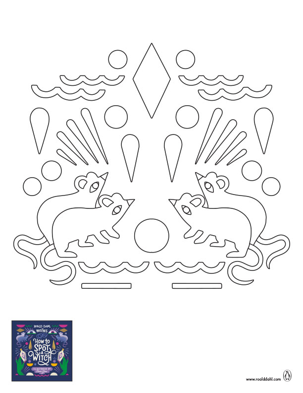 The Witches Coloring Sheet #2