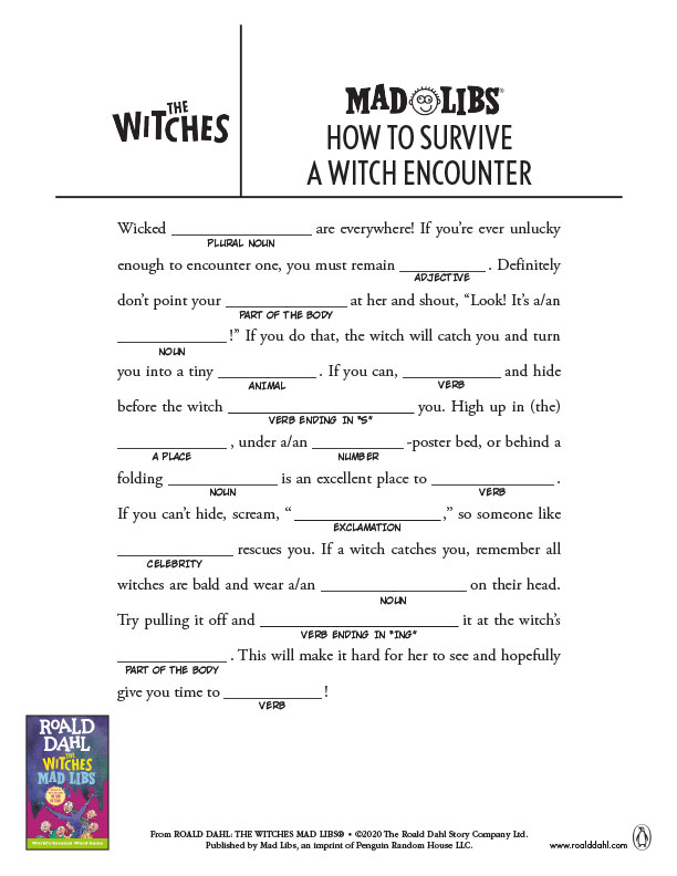 How to Survive a Witch Encounter Mad Libs