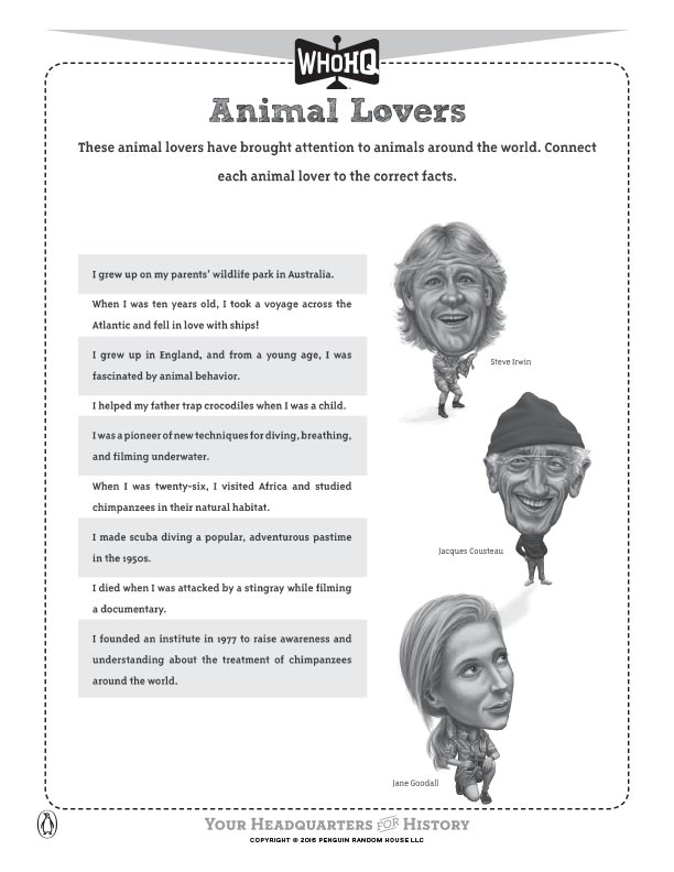 Animal Lovers Activity Sheet