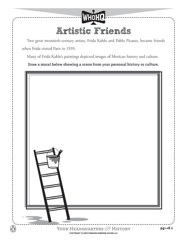 Artistic Friends Activity Sheet