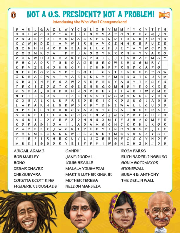 Who Was? Changemakers Word Search
