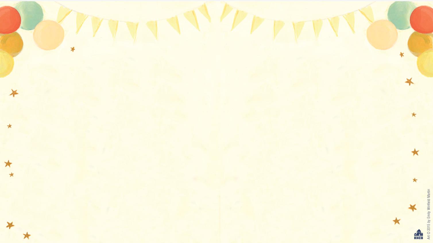 Baby Shower Zoom Background